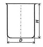 Стакан кварцевый низкий НБН-100 мл
