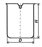 Стакан кварцевый низкий НН-100 мл